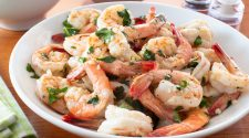 Garlic Butter Shrimp with Cilantro and Lime