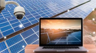 How to connect solar panels with battery powered security cameras