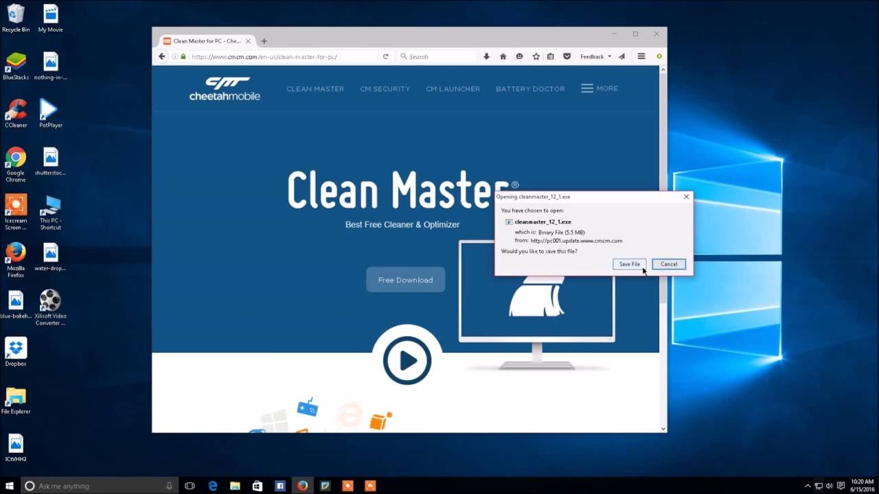 Clean Master App for PC Free Download